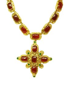 Chanel Chanel Vintage '70s-'80s Gripoix Maltese Cross Necklace