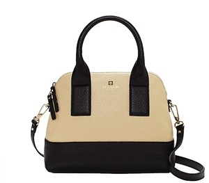 Kate Spade Sale Discount Outlet Satchel in Buttermilk and Black