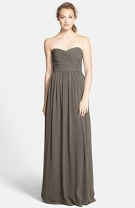 Monique Lhuillier Charcoal Grey Monique Lhuillier Bridesmaid Dress - Style: 450017; Fabric: Chiffon; Color: Charcoal; Dress