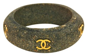 Chanel CHANEL Vintage '94 Gold CC & Stone Bangle Bracelet