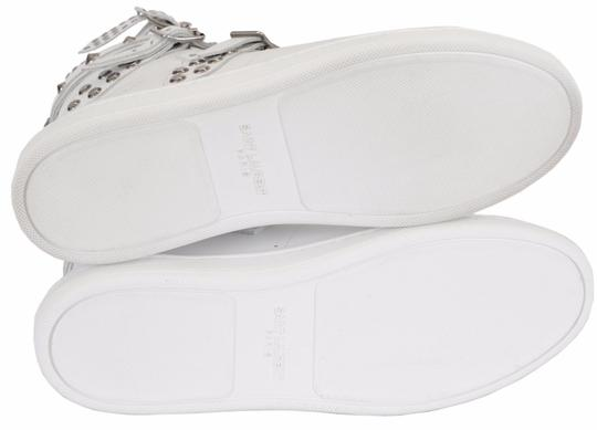 Saint Laurent Sneakers High Tops Studded White Athletic Image 2