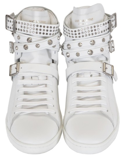 Saint Laurent Sneakers High Tops Studded White Athletic Image 5