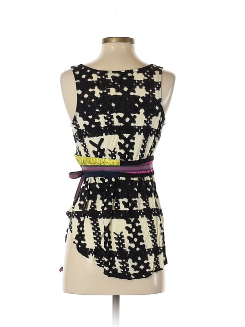 Anthropologie Edgy Boho Bohemian Top Black and white with a multi color belt Image 1