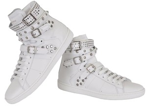 Saint Laurent Studded High Tops Sneakers White Athletic