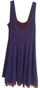 Free People short dress Blue/Burgundy on Tradesy
