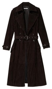 Rebecca Minkoff Suede Leather Trench Trench Coat