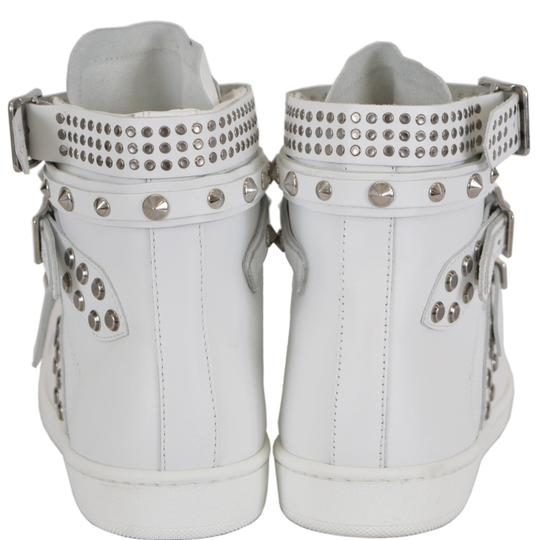 Saint Laurent Sneakers High Tops Studded White Athletic Image 3