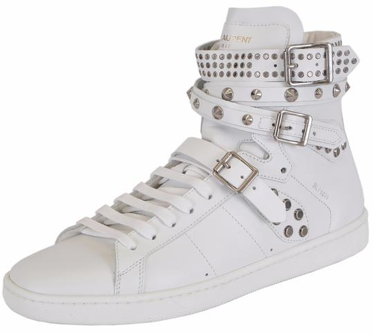 Saint Laurent Sneakers High Tops Studded White Athletic Image 4