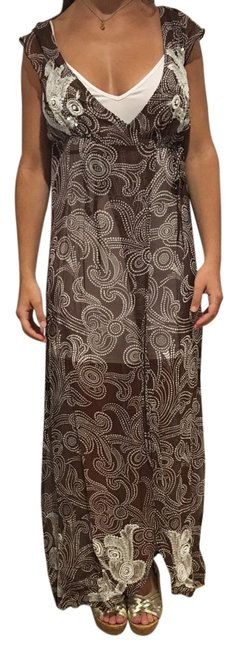 Item - Brown and White Alice Kaftan Cover-up/Sarong Size OS (One Size)