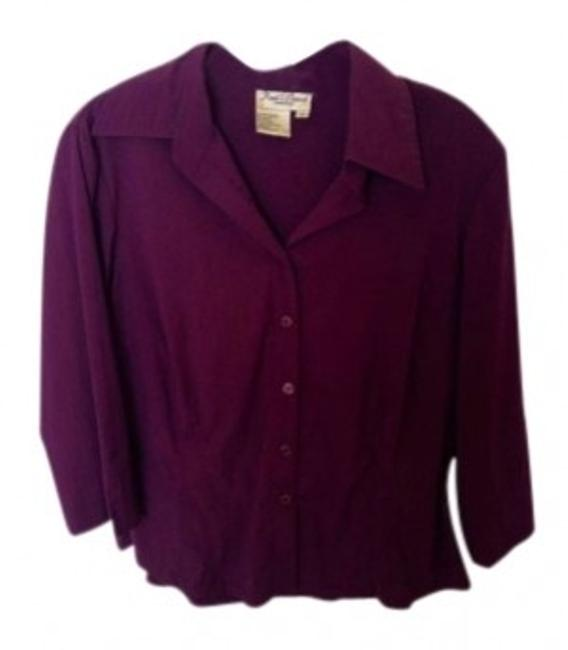 Preload https://item4.tradesy.com/images/fred-david-purple-button-down-top-size-8-m-156873-0-0.jpg?width=400&height=650