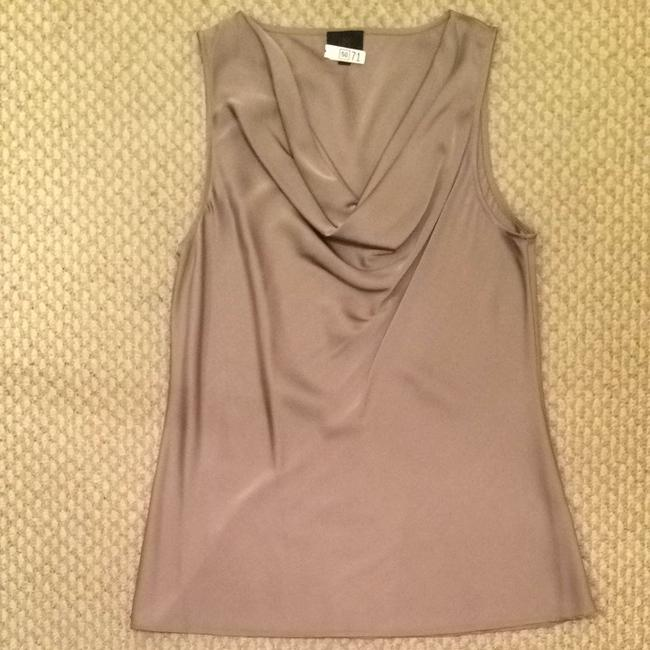 Banana Republic Camisole Cowl Neck Sleeveless Professional Neutral Silk Top Taupe