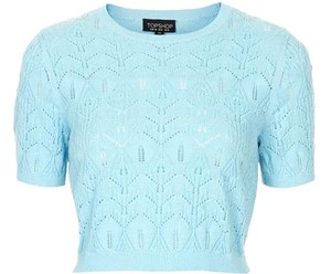 Topshop Crop Separates Top Light Blue