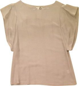 Halogen Shirt Fashion Designer Flutter Feminine Silk Top Grey