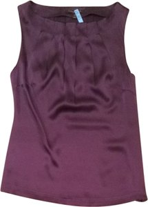 Classiques Entier Silk Sleeveless Shell Soft Elegant Top Eggplant