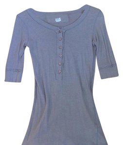 James Perse Henley T Shirt Gray
