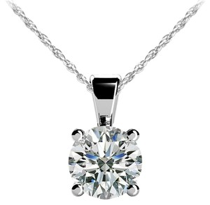 Avi and Co 0.55 ct. Round Brilliant Diamond Solitaire Pendant G-H/SI 14K White Gold