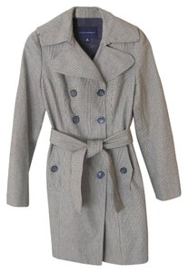 Banana Republic Trench Jacket Plaid Trench Coat
