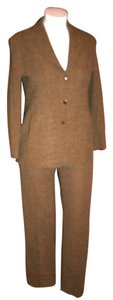 Max Mara Max Mara Wool Blend Brown Plaids Pant Suit IT 46 USA 12