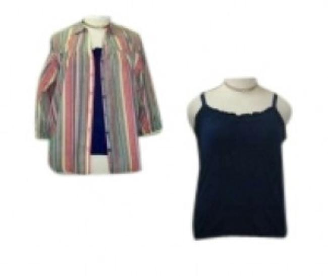 Preload https://img-static.tradesy.com/item/156886/dress-barn-multi-color-striped-w-solid-cami-3x-separate-twinset-blouse-size-26-plus-3x-0-0-650-650.jpg