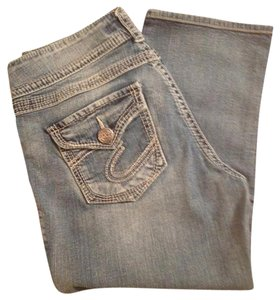Silver Jeans Co. Capri/Cropped Denim-Light Wash