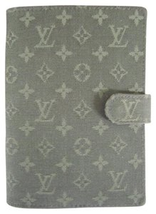 Louis Vuitton Day planner Agenda pm Denim Idylle Mini Lin Olive Green