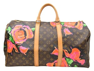 Louis Vuitton Roses Stephen Sprouse Keepall Luggage Roses Monogram Travel Bag