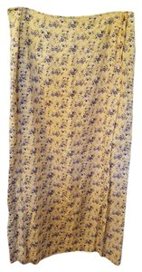 Coldwater Creek Maxi Skirt Yellow floral
