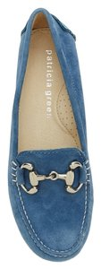 Patricia Green Stylish Driving Driving Moccasin Comfortable Chic Quality Construction Shelby Moccasin Denim Blue Flats