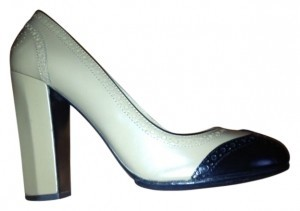 Miu Miu Black and Beige Pumps