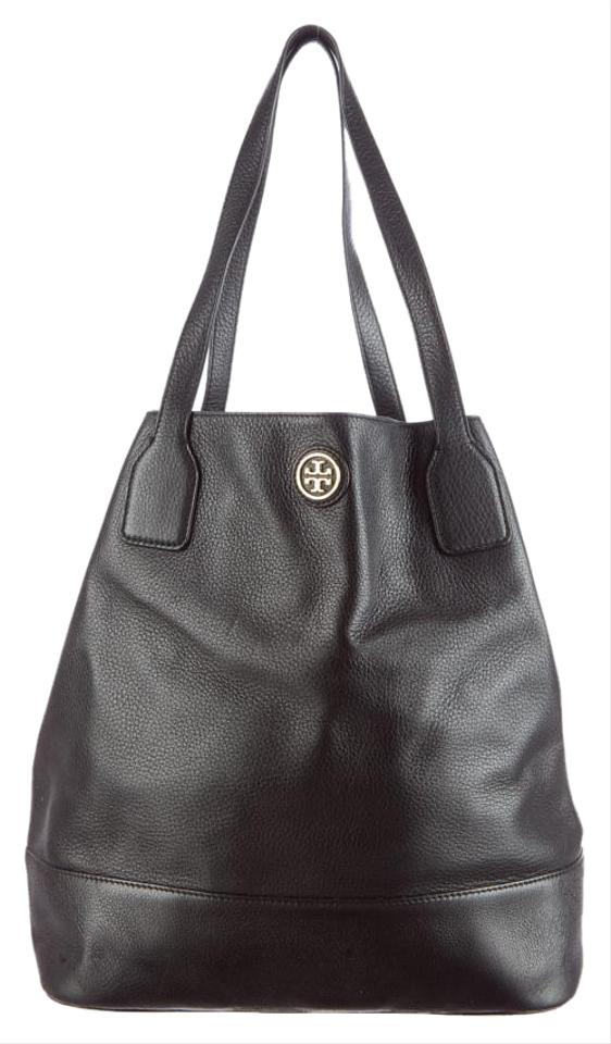 a1a2a7af1ac Tory Burch Michelle Black Leather Tote - Tradesy