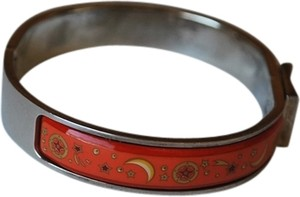 Hermès Authentic Hermes Enamel Paris Bangle Bracelet