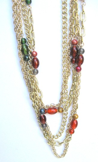 Parma Pamar Signed Multi-Chain & Italian Bead Necklace, Italy Image 1