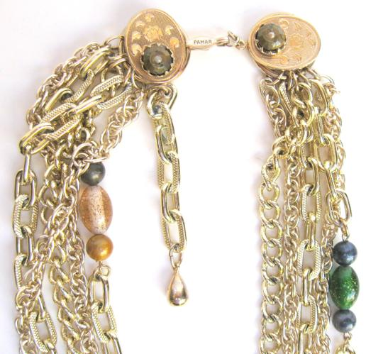 Parma Pamar Signed Multi-Chain & Italian Bead Necklace, Italy Image 2