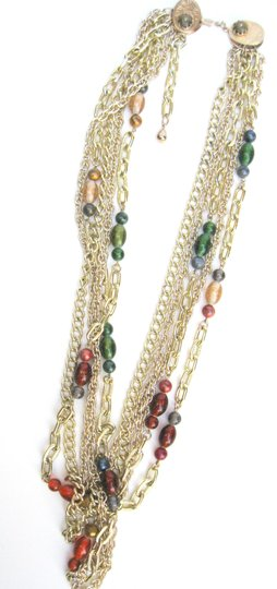 Parma Pamar Signed Multi-Chain & Italian Bead Necklace, Italy Image 3