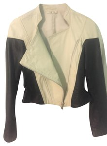 Ohne Titel Cream Leather Jacket