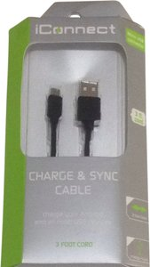iconnect New In Box Android Charge & Sync 3 Foot Cord Cable