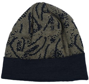 Versace Versace Camel/Black Knitted Beanie Wool Blend Hat