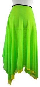 Jean-Paul Gaultier Soleil Pull On Mesh Skirt Lime Green