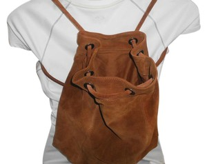 Ecote Suede Drawstring Bucket Backpack