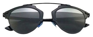 Dior So Real 48mm Mirrored Sunglasses Black/Grey Silver Mirror