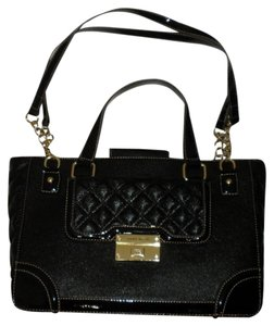 Anne Klein Black Gold Quilted Handbag Tote