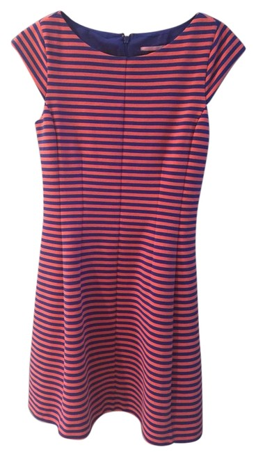 Preload https://img-static.tradesy.com/item/15694909/lilly-pulitzer-pink-and-blue-strped-formal-casual-mid-length-cocktail-dress-size-4-s-0-2-650-650.jpg
