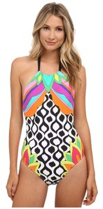 Trina Turk Trina Turk Balboa High Neck One-Piece swimwear size L 12