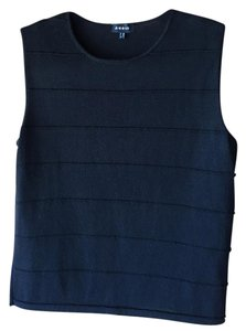 Akris Cashmere Silk Sleeveless Shell Top Black