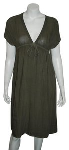 James Perse short dress OLIVE GREEN Soft on Tradesy