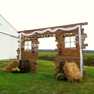 Rustic Wedding Ceremony Wall