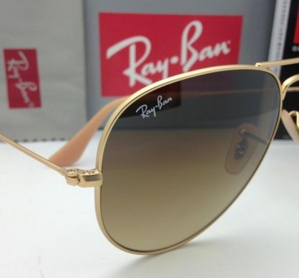 b7a50045448 Ray-Ban Rb 3025 Large Metal 112 85 Matte Gold W  Brown Gradient New 112 85  58-14 Aviator Frame W  Lenses Sunglasses - Tradesy