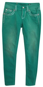 Miss Me Colored Denim Straight Leg Jeans-Light Wash