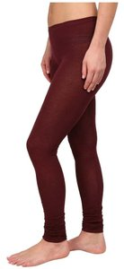 Free People Legging Sexy Ruched Merlot Leggings