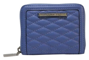 Rebecca Minkoff REBECCA MINKOFF Mini Ava Zip Wallet in Denim Blue Quilted Leather NEW